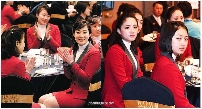 North Korea Olympic Cheerleaders